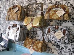 Our bags in a store