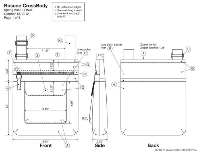 Example of Bag Orthographic