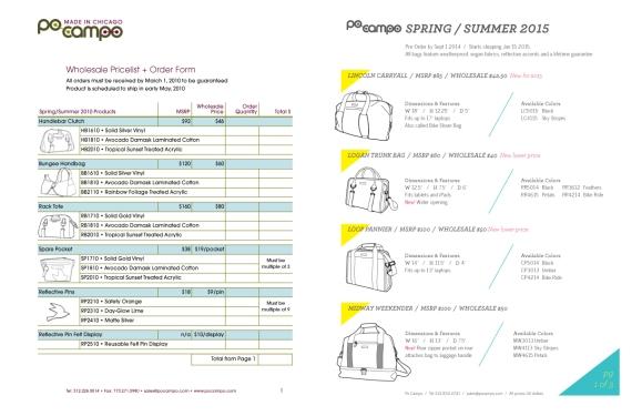 Line Sheet Designing Something