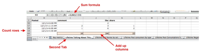 Step 2: Open data and add up your values