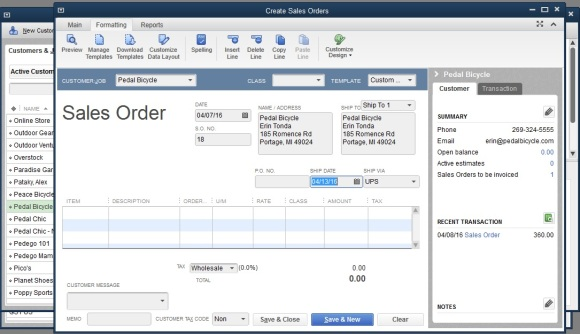 How to use quickbooks to keep track of pre orders and for Quickbooks sales order template